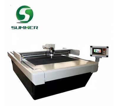 SM1625 cnc knife cutting machine with pressing roller