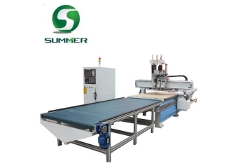 C5 Series Double Peumatic ATC Heads CNC Router with Boring Heads and Automatic Feeder